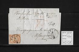 1854-1862 SITZENDE HELVETIA Ungezähnt (Strubel)  → SBK-25F / B1m Rundstempel BELP - Lettres & Documents