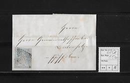 1854-1862 SITZENDE HELVETIA Ungezähnt (Strubel)  → SBK-23Ca / B2 Brief Nach Pfäffikon - 1854-1862 Helvetia (Non-dentelés)