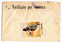 Erinnofilo  - Moto Bianchi - Chiudilettera - 1942 - Erinnofilia