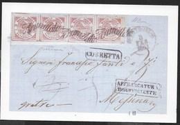 LETTERA DA COTRONE A MESSINA 1861- EDIZIONE VACCARI - VIAGGIATA 1998 - Francobolli (rappresentazioni)