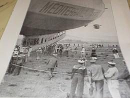 AFFICHE PHOTO DIRIGEABLE MEDITERRANEE ANCIEN NORDSTERN 1922 - Transports