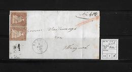 1854-1862 SITZENDE HELVETIA Ungezähnt (Strubel)  → SBK-22A / A3 Ruswil Nach Menznau - Lettres & Documents