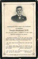 FAIRE PART ACTE DE DECES   Joseph Dieudonné GIE - Décès