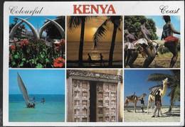 KENIA COAST - VARIE VEDUTE - VIAGGIATA FRANCOBOLLO ASPORTATO - Kenia
