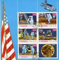 APOLLO NASA SPACE ESPACIO YEMEN MICHEL 786/790 COMPLETE SERIES VIÑETA OBLETERES -LILHU - Asia