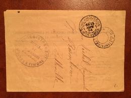 """Lettre """"Enregistrement Domaines Et Timbre"""" CAD Imprimé PP55 (sans Bloc Dateur) + CAD Pont A Mousson 1894 - (B1184) - Marcophilie (Lettres)"""