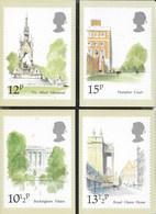 INGHILTERRA - LONDON LANDMARKS ( HAMPTON COURT) 1980 - 5 CARTOLINE  - EDIT. HOUSE OF QUESTA - NUOVE - Francobolli (rappresentazioni)