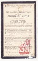 DP Bloemist - Emmanuel Cuyle ° Wenduine 1852 † St.-Kruis Brugge 1925 X Blondina Huys - Images Religieuses