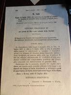 7C) GENOVA MURA DEL 1600 -1911 REGIO DECRETO AUTORIZZAZIONE A VENDERE IMMOBILI EX CINTA ORIENTALE DELLA CITTA' COMPOSTO - Decreti & Leggi