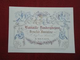 Renaix    Carte Porcelaine    Battaille Vandergheijnst   13,50 Cm X 9,50 Cm  ( 2scans ) - Renaix - Ronse