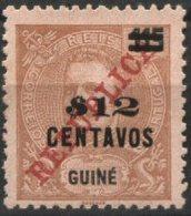 GUINÉ, 1920, KING CARLOS I, W/SURCHARGE, CE#176, MH (1) - Guinea Portuguesa