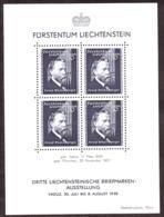 Liechtenstein - 1938 - BF N° 3 - Neuf ** - Exposition Philatélique De Vaduz - J.Rheinberger - Blocs & Feuillets
