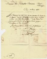 PARIS 1838 LETTRE COMMERCE POTERIE FAIENCES Par Hardy Paris => Mr De Riberolles Chateau De Ravel Salmerange Puy De Dome - 1800 – 1899