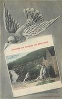 J'envoie Un Bonjour Du Morvand Morvan Le Saut De GOULOUX Moulin Oiseau Illustré Poésie De MILLIEN Desvignes Clamecy - Clamecy