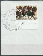 België  O.B.C.  1517  (O)  Plaatnummer 4  Brussel-Bruxelles - Used Stamps