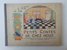 Ancien Livre Enfant Illustrations Jeanne Hebbelynck Petits Contes De Chez Nous Desclée De Brouwer Anges Angelots - Religion & Esotérisme