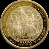 ROMANIA -2018-  50 BANI - COMMEMORATIVE COINS - 100 Years Since The Union Of BUCOVINA With Romania PROOF (Rare) - Roumanie