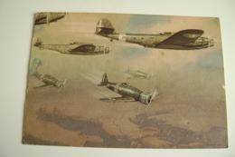 REGIA  ARMA  AERONAUTICA   IO CREDO FERMAMENTE VIAGGIATA  COME DA FOTO  BOLLO  RIMOSSO AVION AVIATION - Guerre 1939-45