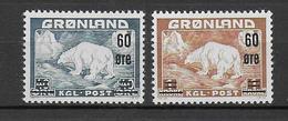 GROENLAND - 1956 - YVERT N°28/29 ** MNH - COTE = 115 EUR - Neufs