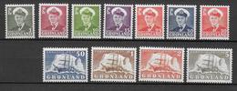GROENLAND - 1950 - YVERT N°19/27 ** MNH - COTE = 150 EUR - Neufs