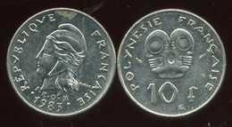 POLYNESIE Francaise 10 Francs 1983 - Polynésie Française