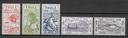 THULE - 1935 - YVERT N°19/27 **/* MNH/MLH - COTE = 37.5++ EUR - Thule