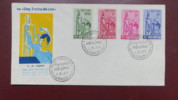 Vietnam FDC Lettre Du 1 Mars 1963 - Viêt-Nam