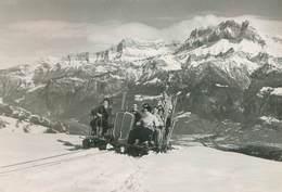 CORDON (Haute-Savoie) - Automobile - Voyagée 16/02/1953 - Le TELETRAINEAU Vue Sur Les Aiguilles De Warrens - Autres Communes