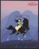 2464   -  The GAMBIA - Disney - 1998 - MULAN Op Haar Paard KHAN  . - Disney