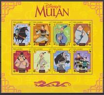 2465 B  -  The GAMBIA - Disney - 1998 - MULAN  Presentatie Van Personages II . - Disney