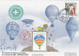 VOL BALLON   CHATEAU-D'OEX   2000 - Luftpost
