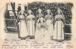 CPA 65 Hautes PYRÉNÉES Tarbes Costume Du Pays No 4 D.T. éditeur Lourdes 197 Précurseur Circulée Jeunes Filles Folklore - Tarbes
