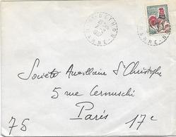 CACHET DISTRIBUTION BETHON MARNE B9 - Postmark Collection (Covers)