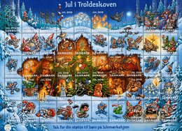 Denmark - 2018 - Christmas - In The Wilderness Forest - Mint Charity Souvenir Sheet - Dänemark