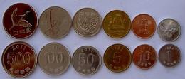 KOREA DEL SUD SERIE 6 MONETE 500-100-50-10-5-1 WON  FDC - Korea, North