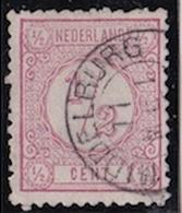 1876-1894 Cijfertype ½ Cent Roze Kamtanding 11½ : 12 Type II NVPH 30 D II - Periode 1852-1890 (Willem III)