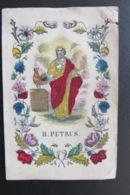 Canivet, Canivets, Sabntino, Image Pieuse,heiligenbeeldje, Petrus, Hand Painted 19th Century - Religion & Esotérisme