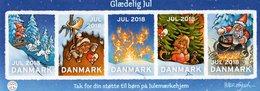 Denmark - 2018 - Merry Christmas - Mint Self-adhesive Charity Souvenir Sheet (large Stamps) - Dänemark