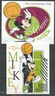 2 Pcs NEVIS - MNH - Walt Disney - Disney