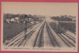 91 - ATHIS-MONS----Vue Sur La Gare De Chemin De Fer----train --cpsm Pf - Athis Mons