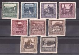 Autriche - 1923 - N° 304 à 312 - Neufs * - Villes - Ongebruikt