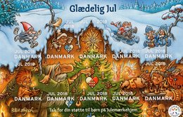 Denmark - 2018 - Merry Christmas - Mint Self-adhesive Charity Souvenir Sheet - Dänemark
