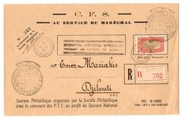 Côte Des Somalis Maury N° 120 Sur Très Belle Lettre De 1942. B/TB. A Saiisir! - Französich-Somaliküste (1894-1967)