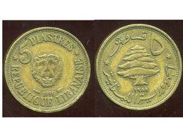 LIBAN 5 Piastres 1955 - Lebanon