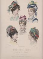 Revue De La Mode 1874 CHAPEAUX  ( Lot Pat 08) - Lithographies