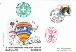 VOL BALLON   CHATEAU-D'OEX   1993 - Poste Aérienne