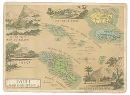 Chromo Cafés En Grains Trébucien : Taïti , Iles Marquises ( Tahiti ) - Thé & Café