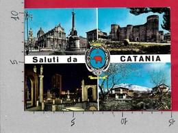 CARTOLINA VG ITALIA - Saluti Da CATANIA - Panorama Vedutine - 10 X 15 - ANN. 19?? - Saluti Da.../ Gruss Aus...
