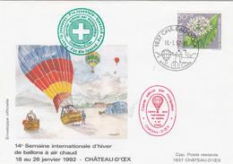 VOL BALLON   CHATEAU-D'OEX   1992 - Poste Aérienne