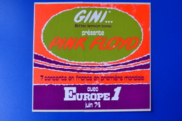 A.C.  1974 Gini Présente PINK FLOYD Avec Europe1 - Adesivi